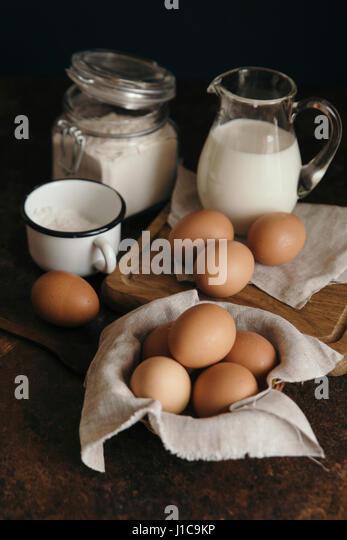 Baking ingredients - Stock Image