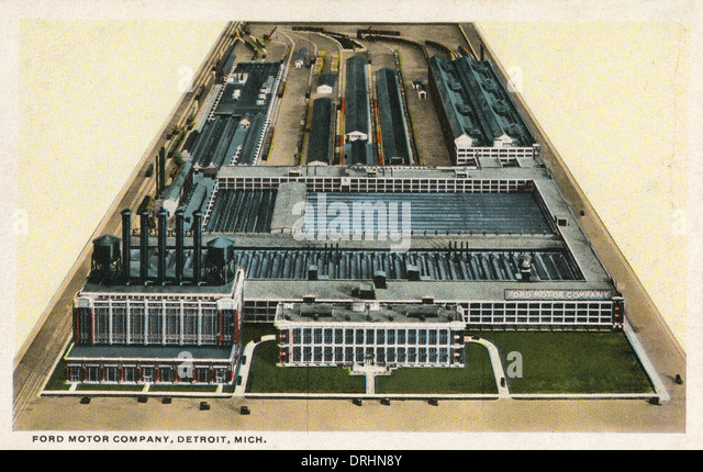 Ford car factory detroit stock photos ford car factory for Ford motor company usa