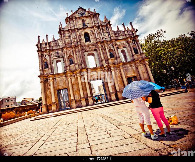 Macao, Senado Square. - Stock Image