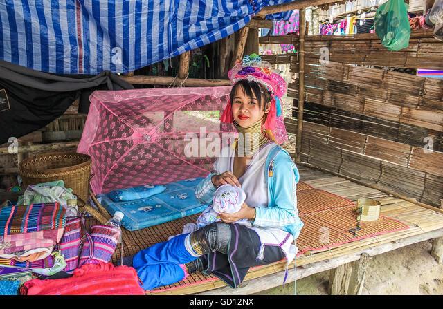 Padaung tribe long-necked - Stock-Bilder