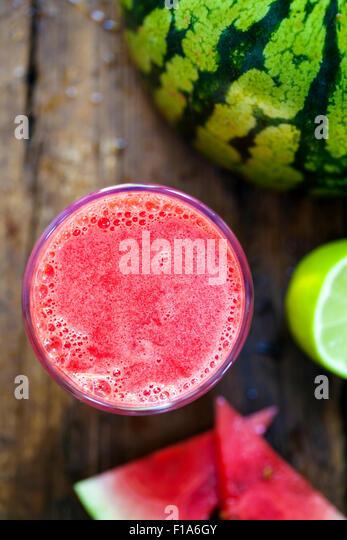 Watermelon juice - Stock Image