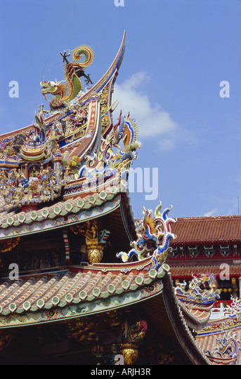 Architectural detail, Taipei, Taiwan, Republic of China, Asia - Stock Image