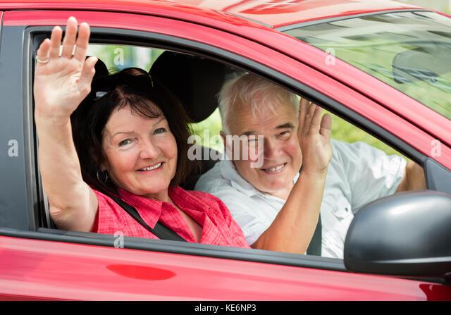 old man waving goodbye stock photos old man waving. Black Bedroom Furniture Sets. Home Design Ideas