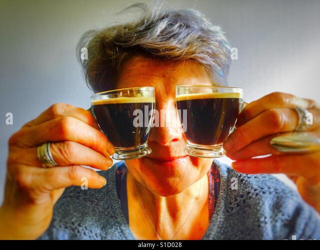 Coffee addiction - Stock-Bilder