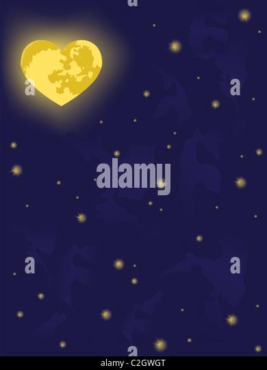 moon on night sky.  backgrounds - Stock-Bilder