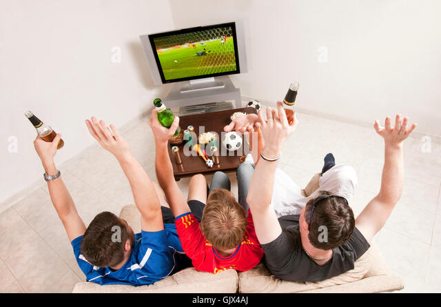 couch hooligans - Stock Image