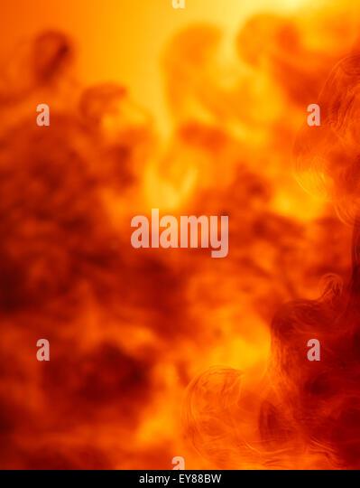 Fire explosion full frame - Stock Image