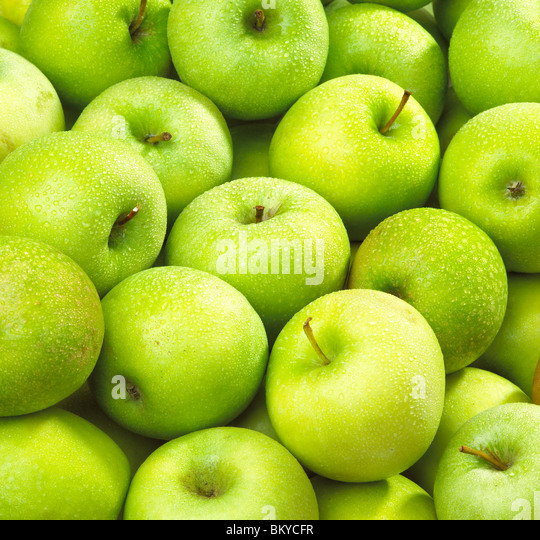 Apples wet - Stock Image