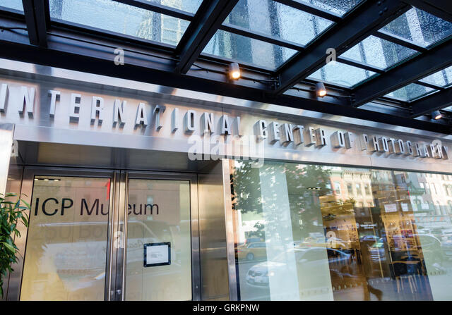 New York New York City NYC Lower Manhattan Bowery International Center of Photography Museum ICP exterior entrance - Stock Image