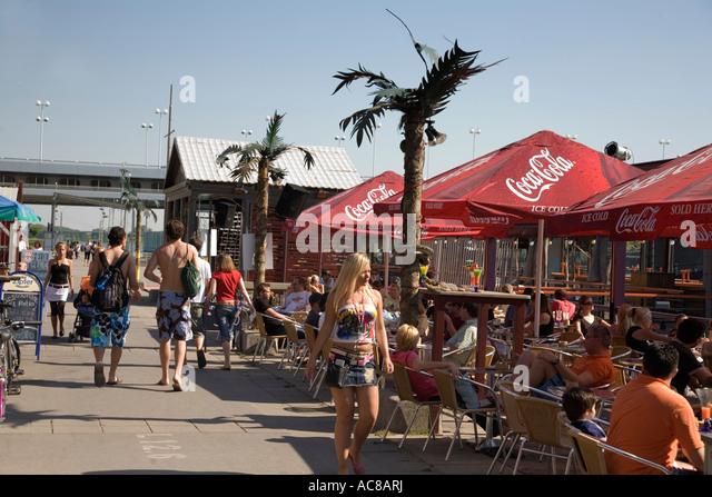 Vienna Donau Island cocktail bar - Stock Image