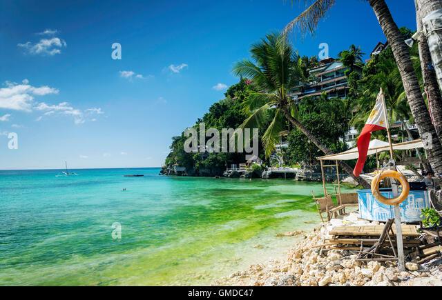 diniwid beach resorts in famous boracay tropical exotic paradise island philippines - Stock-Bilder