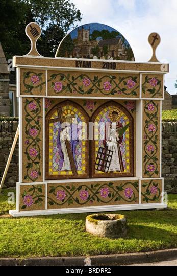 Well Dressing, Eyam, Derbyshire, England, UK - Stock Image