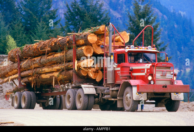 Logging Truck - Stock Image