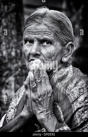 Old Portrait India Black And White Stock Photos & Old ...