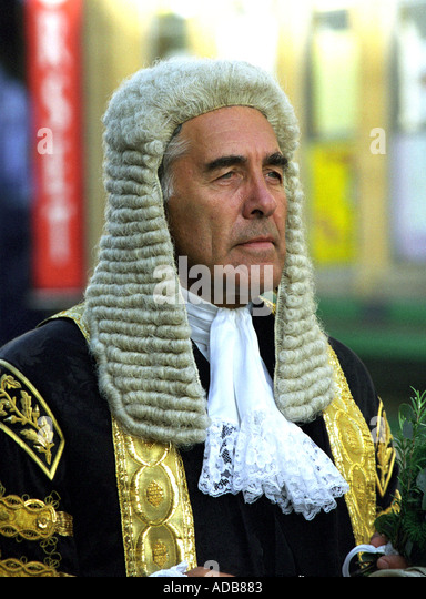 Master of the Rolls The Right Honourable Lord Phillips of Worth Matravers England UK - Stock Image