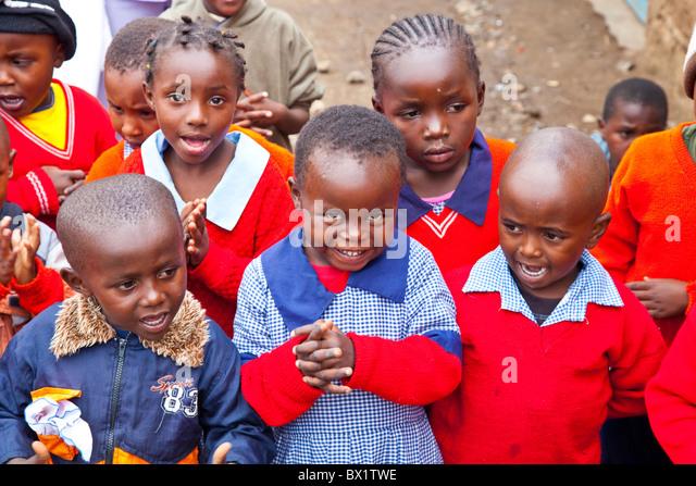 Preschool at Maji Mazuri Children's Centre, Nairobi, Kenya - Stock Image