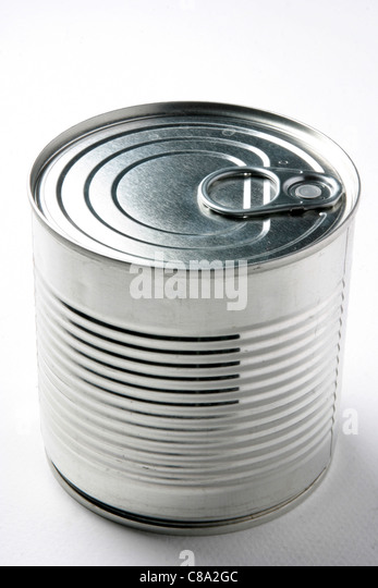 Tin of food - Stock-Bilder