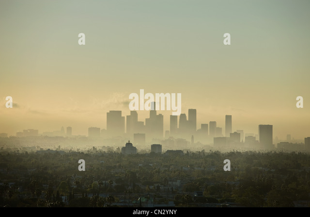 Skyline, Los Angeles, California, USA - Stock-Bilder
