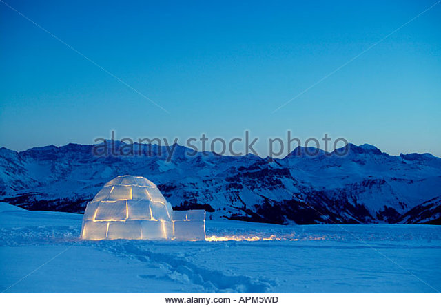Switzerland, Toggenburg, traditional igloo in mountains - Stock-Bilder