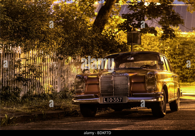 70's Mercedes-Benz automobile - Stock Image
