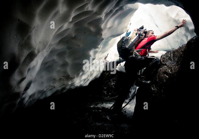 Climbing Mount Baker. - Stock Image