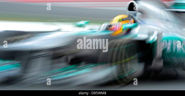 Lewis Hamilton (GBR), Mercedes F1 W04  during the Spanish Formula One Grand Prix 2013 - Stock-Bilder