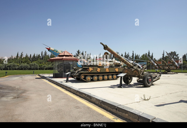 Syria Damascus Panorama military museum  commemorating the Yom Kippur or October war and the six days war - Stock Image