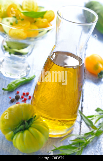 Carafe of olive oil - Stock-Bilder