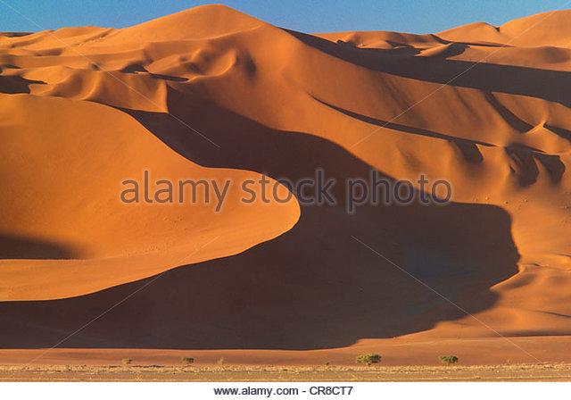 Sand dunes, Namib-Naukluft National Park, Namibia - Stock Image