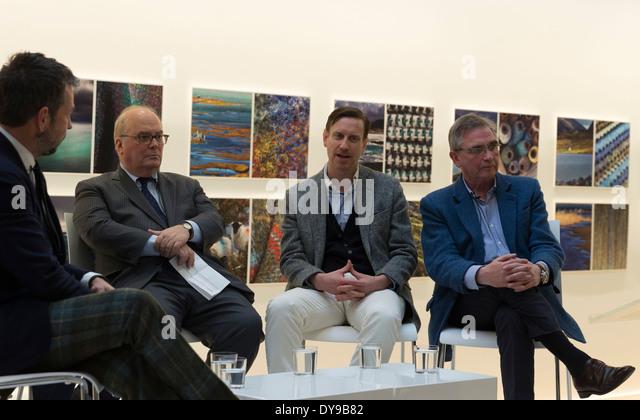 Brian Wilson of Harris Tweed, Glen Hoff, Doug Shriver, Nick Sullivan attend launch of Fashion Sharing Progress - Stock Image