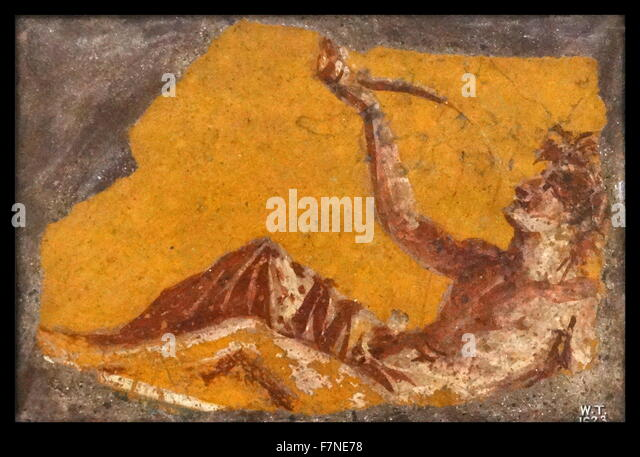 Pompeii Wall Painting Banquet