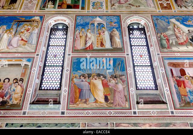 The Scrovegni Chapel - Cappella degli Scrovegni, Padua, Veneto, Italy - Stock Image