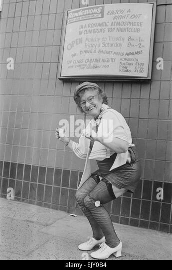 Dancing granny Jenny Gorman shows of her some of her moves. 6th May 1979. - Stock Image