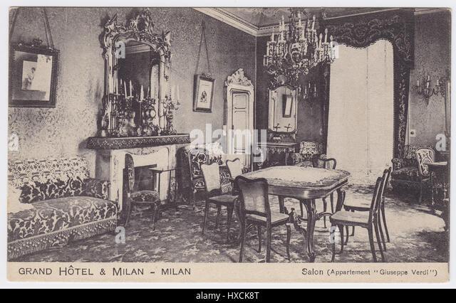 Grand Hotel et de Milan, Milan, Italy, Giuseppe Verdi Suite - Stock Image