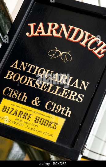 Jarndyce Antiquarian Booksellers, London, UK - Stock-Bilder