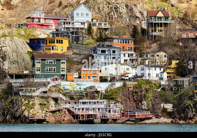 St. John's, Avalon Peninsula, Newfoundland, Canada - Stock Image