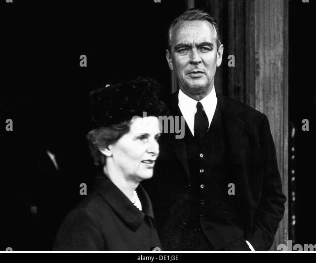 Beitz Berthold 26.3.1913 - 30.7.2013 German industrialist half length with wife Else Villa Huegel Essen 1960s 20th - Stock Image