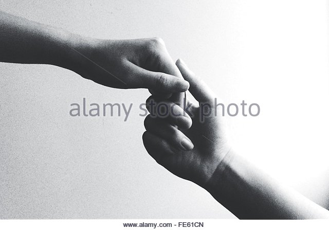Cropped Image Of Couple With Holding Hands - Stock-Bilder