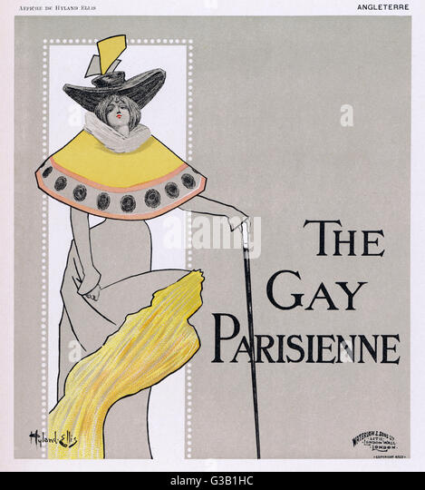 Poster for  The Gay Parisienne        Date: circa 1896 - Stock-Bilder