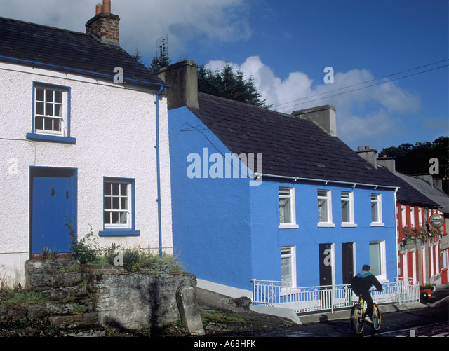 Town of Ramelton County Donegal Ireland - Stock Image