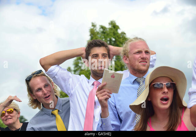 Henley-on-Thames, UK. 3rd July, 2016. Supporters Aghast during the The Visitors' Challenge Cup.Defending champions - Stock Image