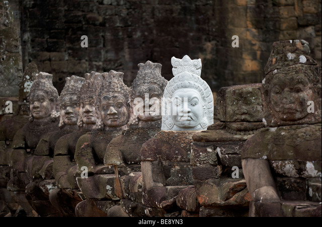 Buddha statues angkor stock photos