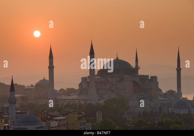 Turkey Istanbul view of the Hagia Sophia Mosque - Stock Image