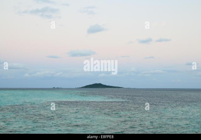 Remote island at sea, Japan - Stock Image