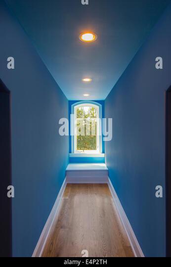 Perspective Hallway With Window - Stock Image