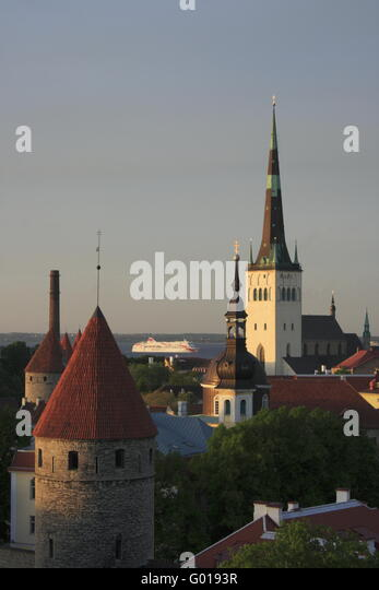 old town of Tallinn, Estonia - Stock Image