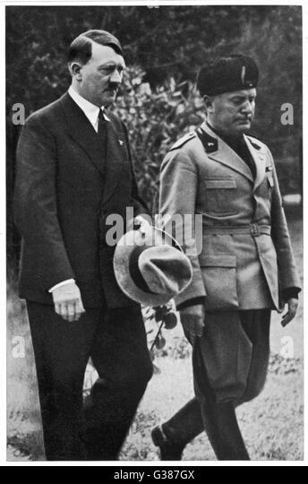 world war 2 hitler and mussolini meet