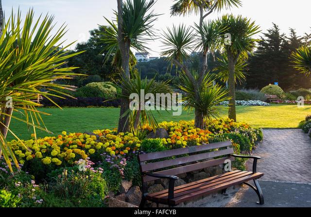 St brelade 39 s bay beach jersey stock photos st brelade for Garden design jersey channel islands