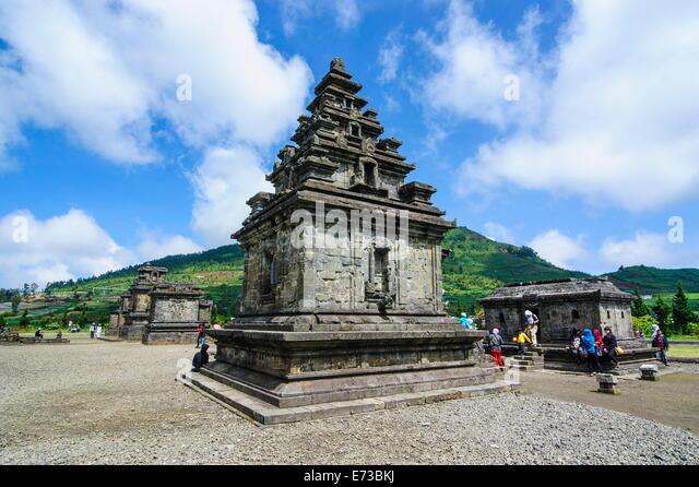 Arjuna Hindu Dieng temple complex, Dieng Plateau, Java, Indonesia, Southeast Asia, Asia - Stock Image