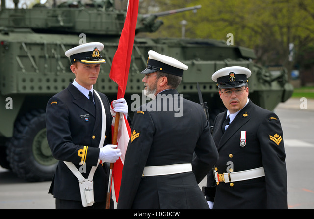Images from the Canadian National Day of Honour held in London, Ontario to remember the Canadians who died fighting - Stock Image
